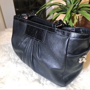 Black All leather Coach Bag